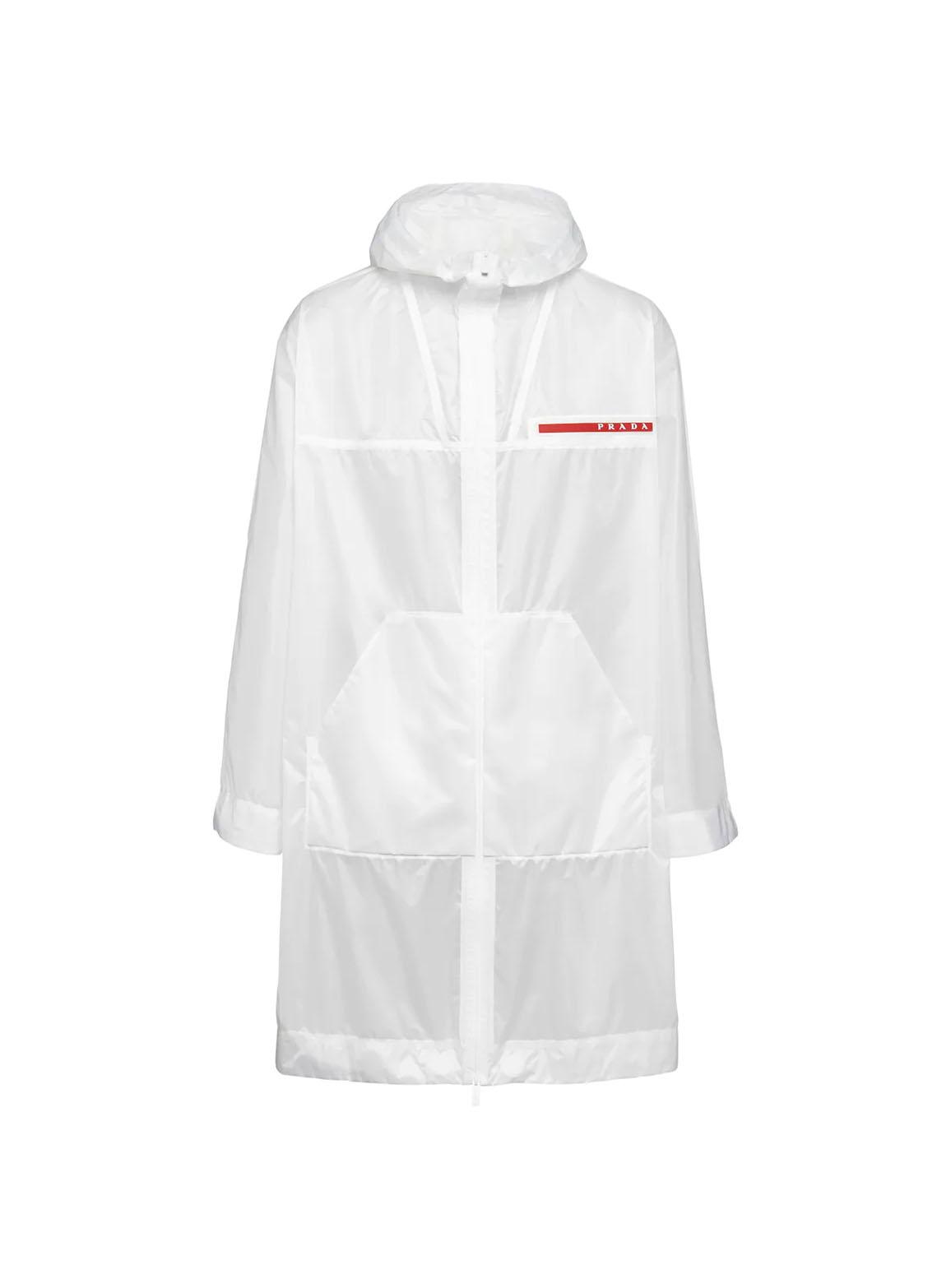 Ripstop hooded raincoat