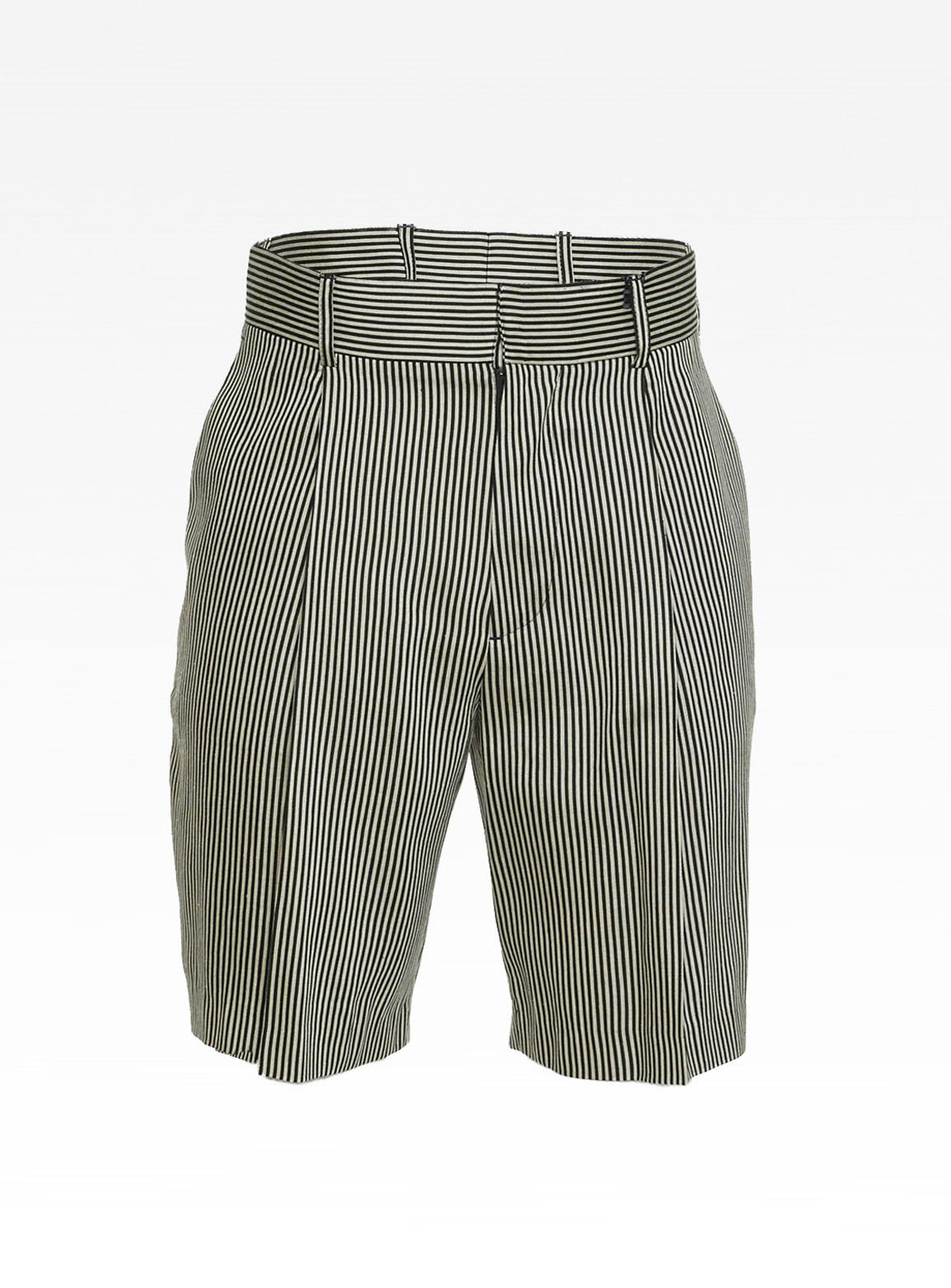 Hansel stripe linen black/beige short