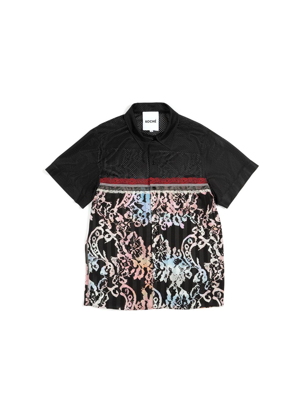 Color block short sleeve shirt