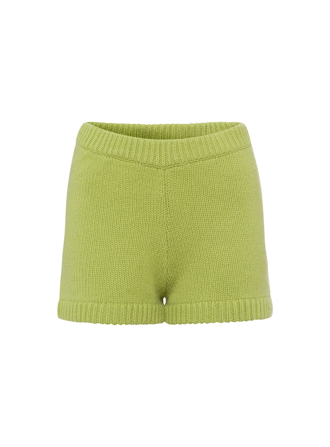 Shorts with ribbed cuffs