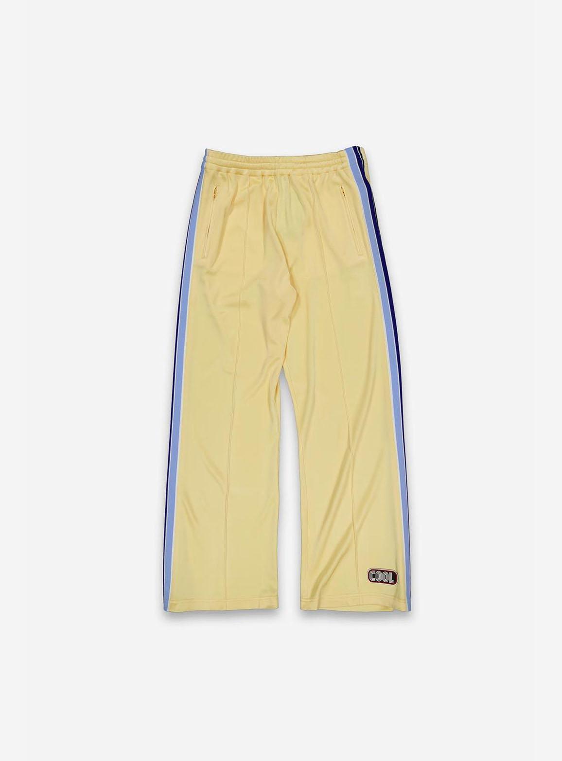 Yellow tracksuit pants