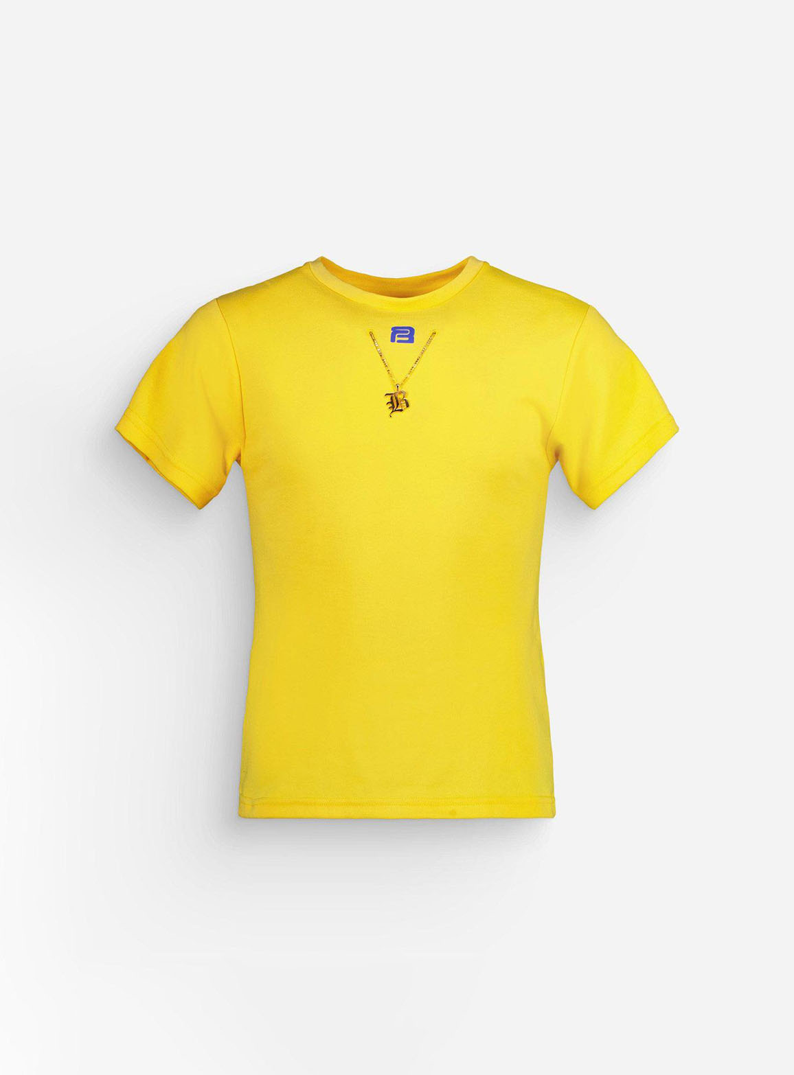 """Yellow """"B"""" chain t-shirt"""