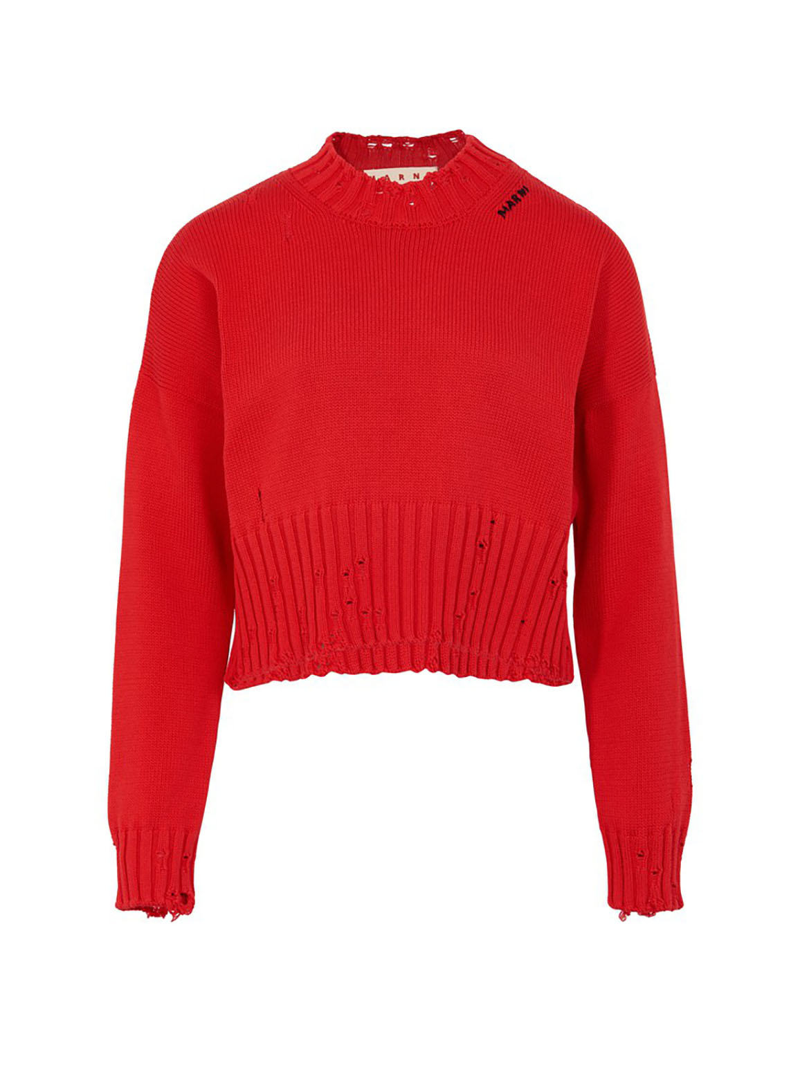 Twisted cotton crew-neck sweater