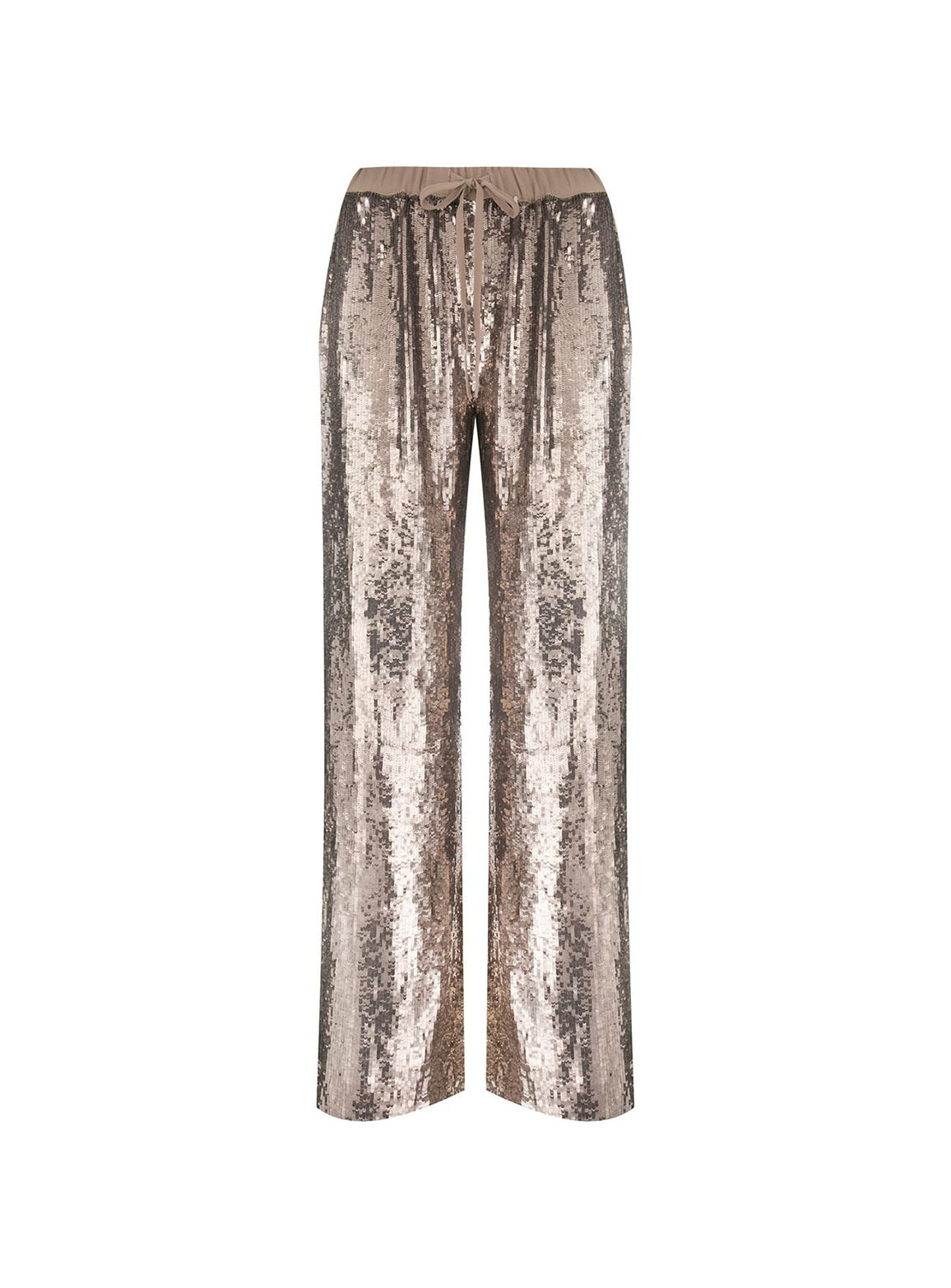 Wide-leg pants with embroidered sequins