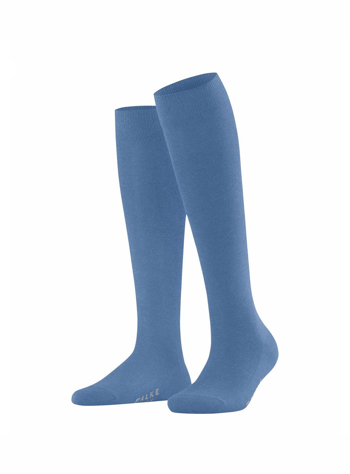 Dusty blue family women knee-high socks