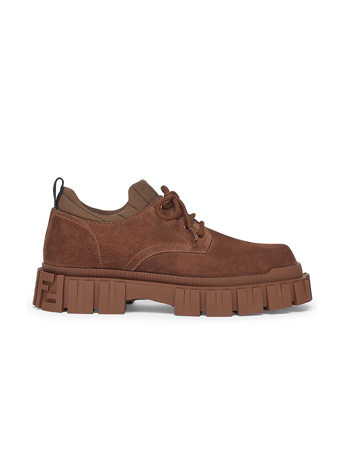 Brown suede lace-ups