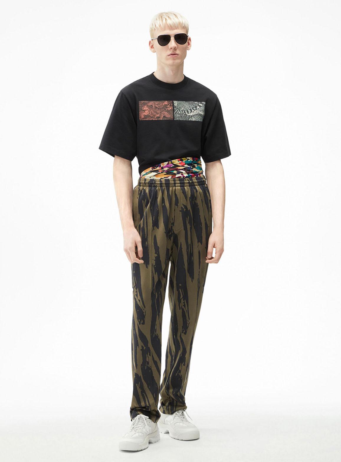 Pleat Camo' oversize trousers
