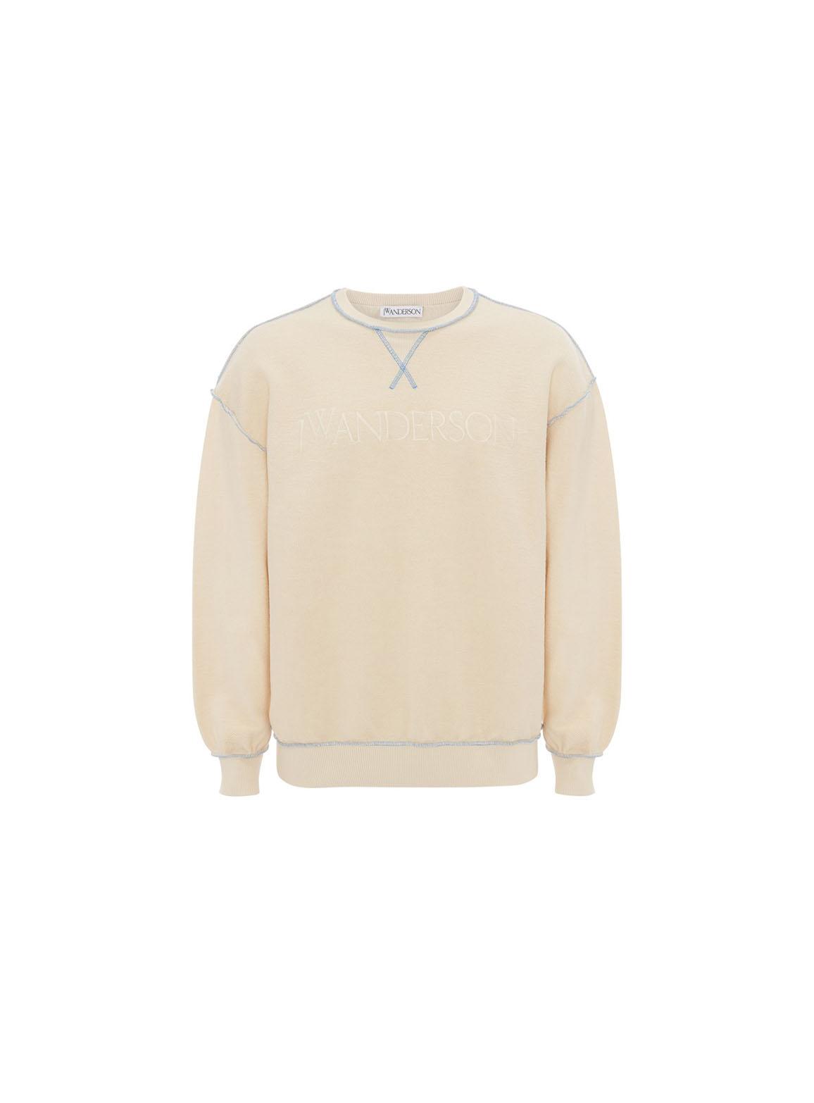 Inside-Out Contrast Sweatshirt
