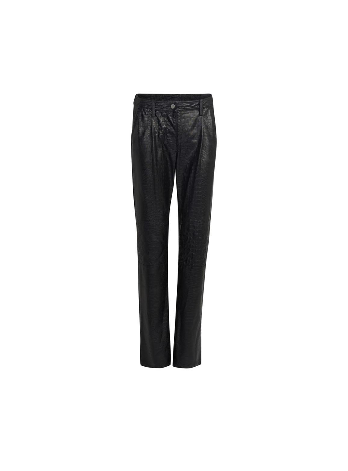 Croco effect pants