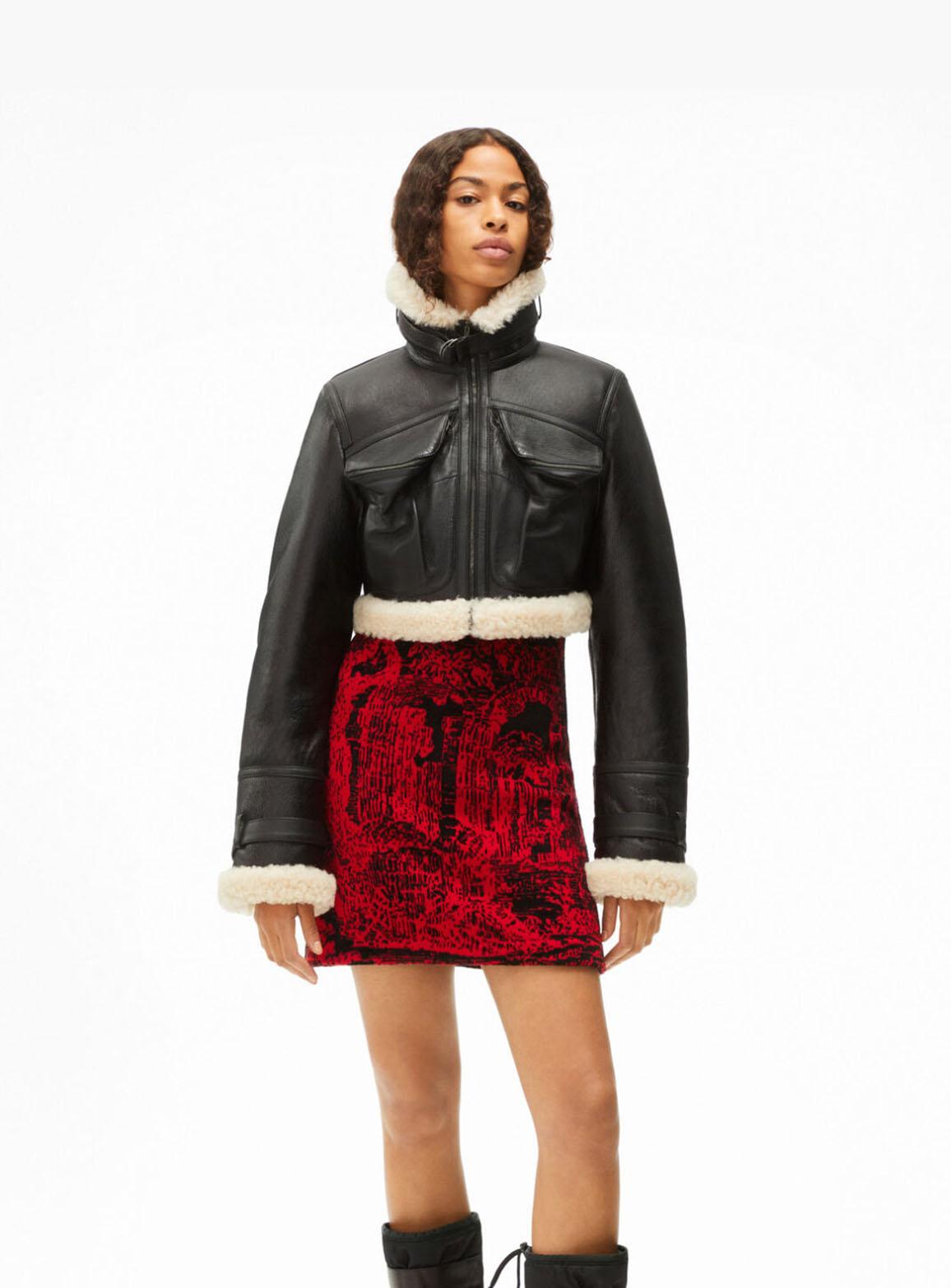 Short sheepskin jacket