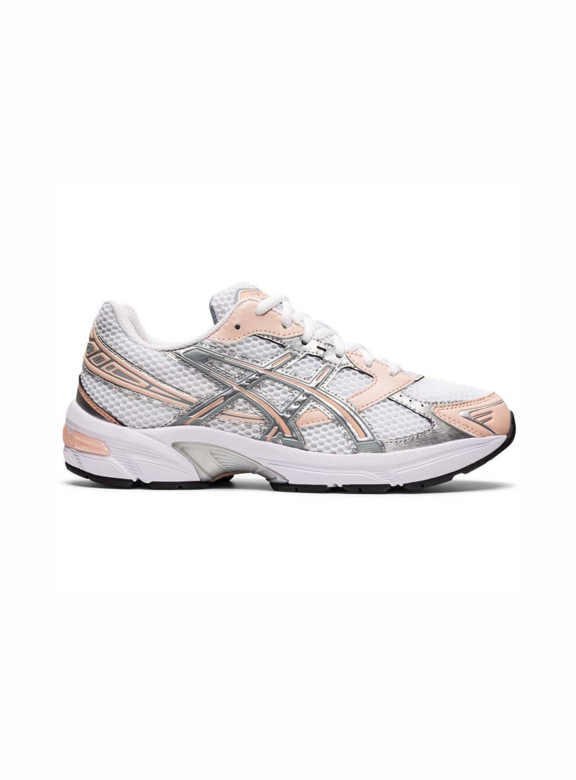 Asics Gel-1130 trainers in white and peach