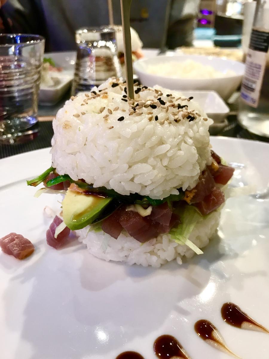 Sushi-burger nouveau à Lyon Rue Mercière