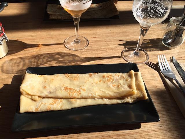 Crêpe dessert Madamann crêperie à Lyon