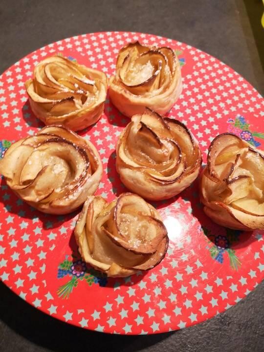 On a cuisiné pour vous #28 : Roses feuilletées aux pommes