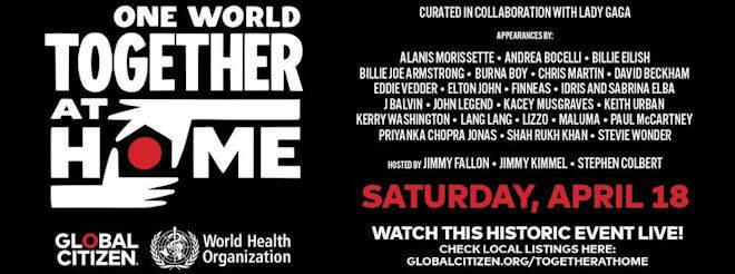 Revivez le concert One World : Together at Home, déjà rentré dans l'histoire