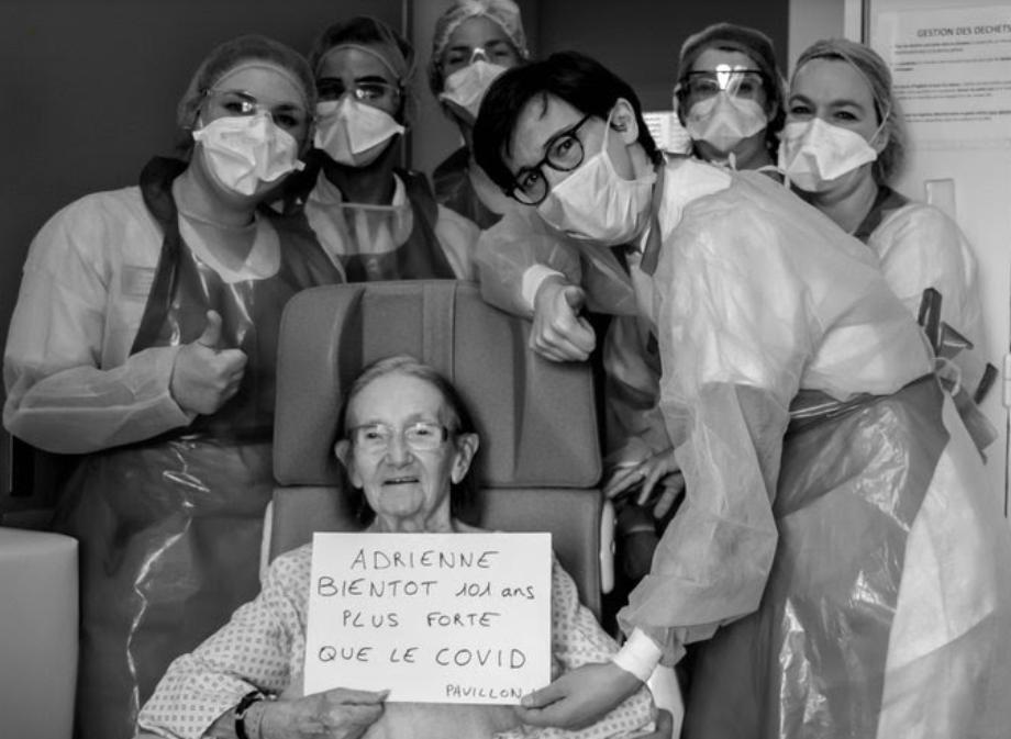 ESPOIR : une centenaire lyonnaise a vaincu le coronavirus !