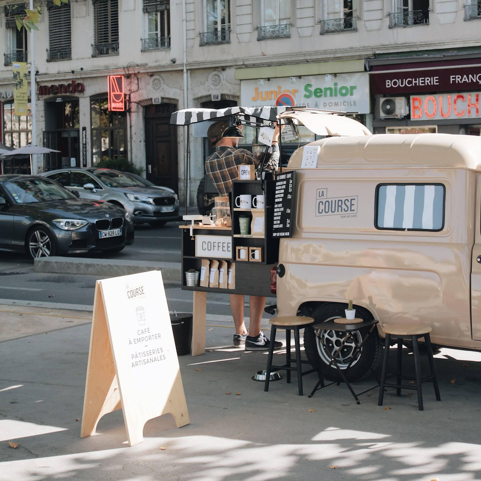 LA COURSE café : le coffee-shop nomade et responsable à Lyon où passer lors de votre sortie quotidienne