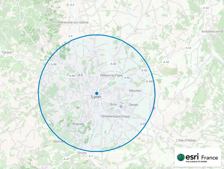 Calculez sur une carte votre périmètre de 20km pour vos déplacements !