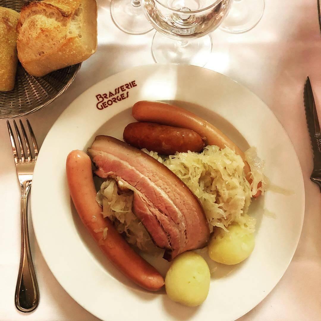 La Brasserie Georges organise une vente de choucroute à emporter le week-end prochain !