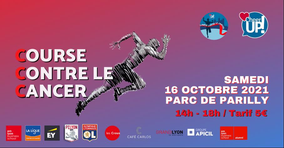 Un tour couru = 1 € reversé au centre Léon Bérard pour soutenir la lutte contre le cancer avec Cheer Up!