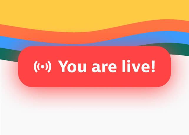 Start your live stream