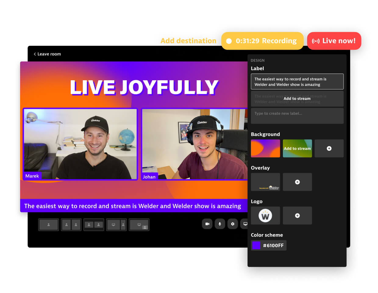 Personalize your stream