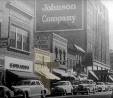 Downtown Sioux Falls in the early to mid 1900's. Highlighted is the Crawford's building before it was Crawford's Bar and Grill.