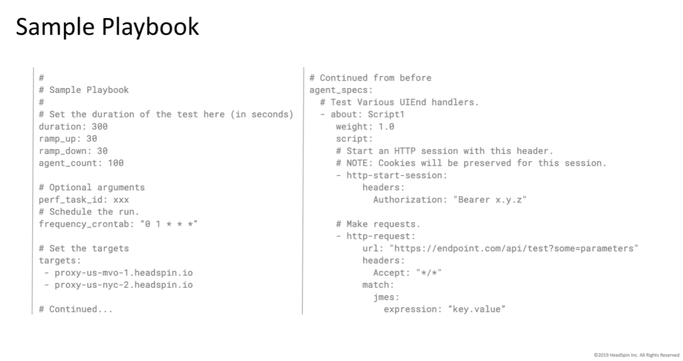 Sample Playbook - HS Load Testing