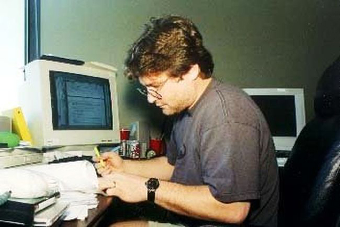 Gabe Newell Young