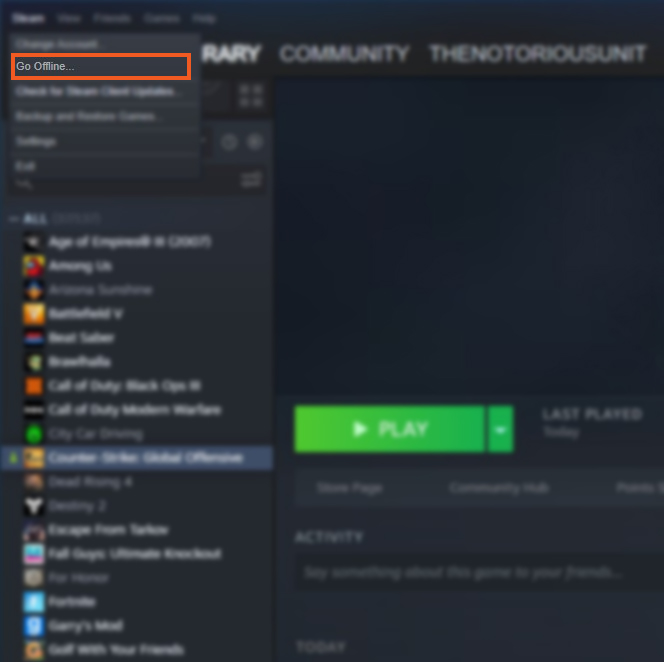 How to restart Steam Client CSGO