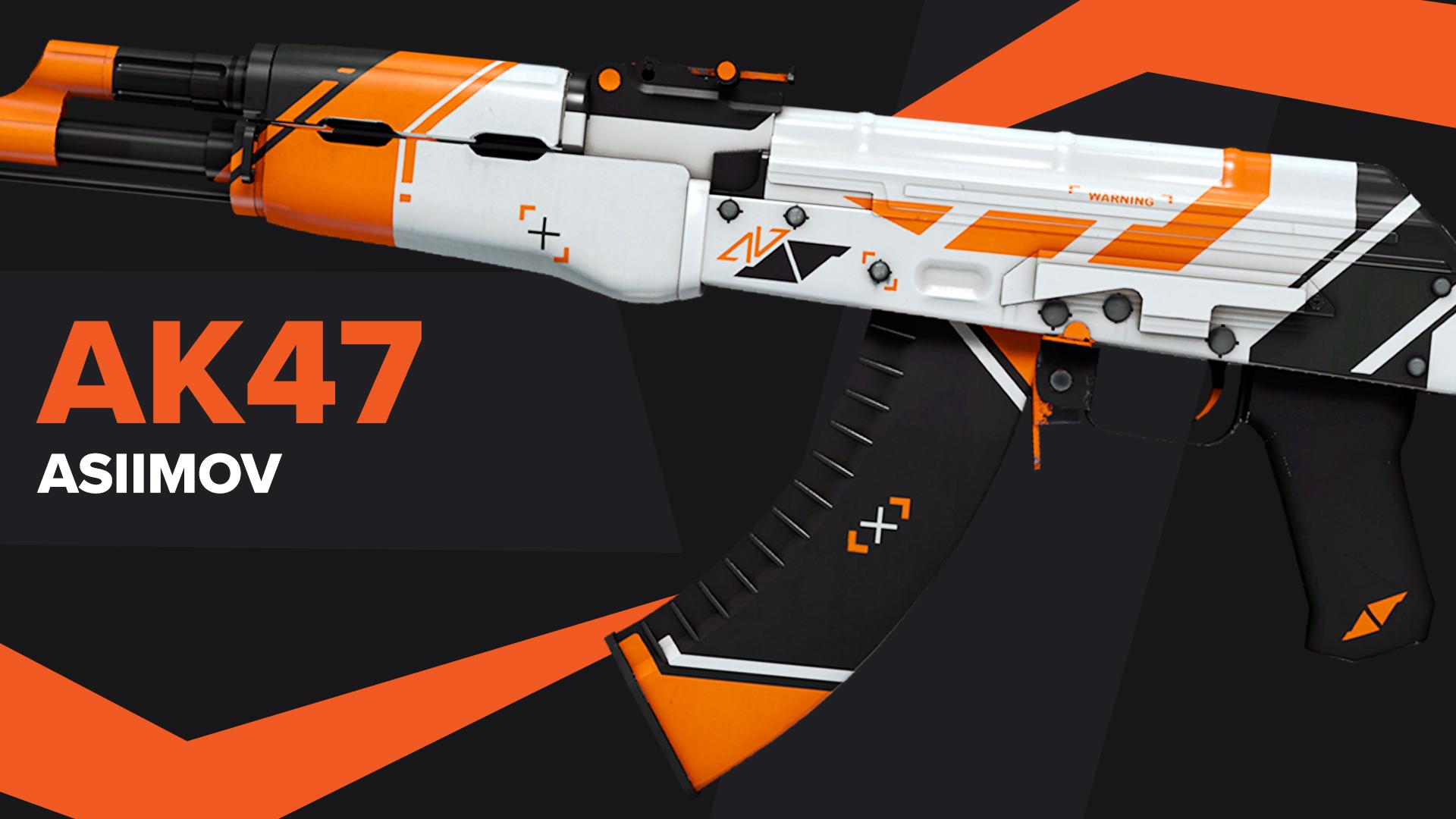 AK47 Asiimov CSGO Skin