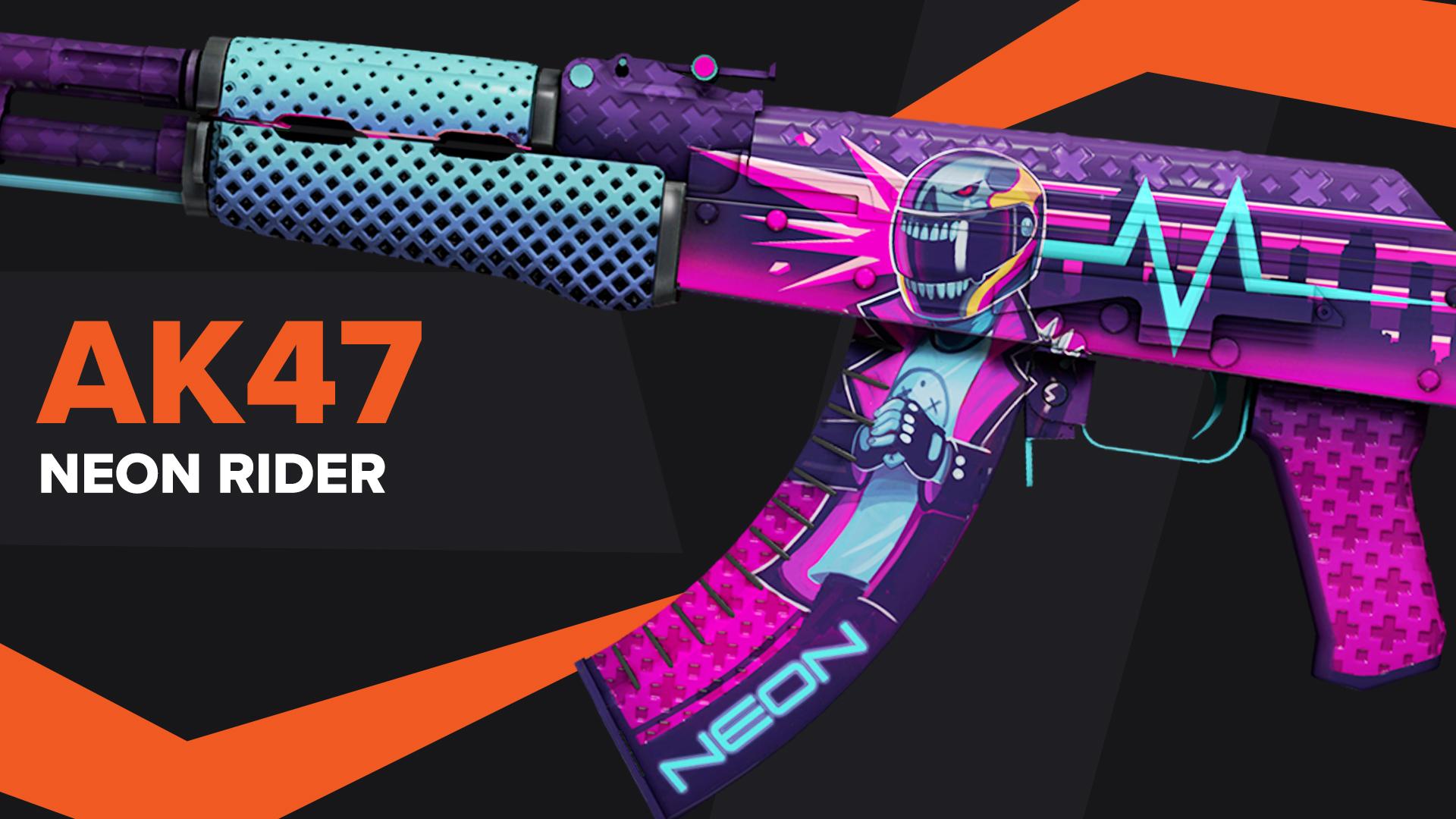 AK47 Neon Rider CSGO Skin