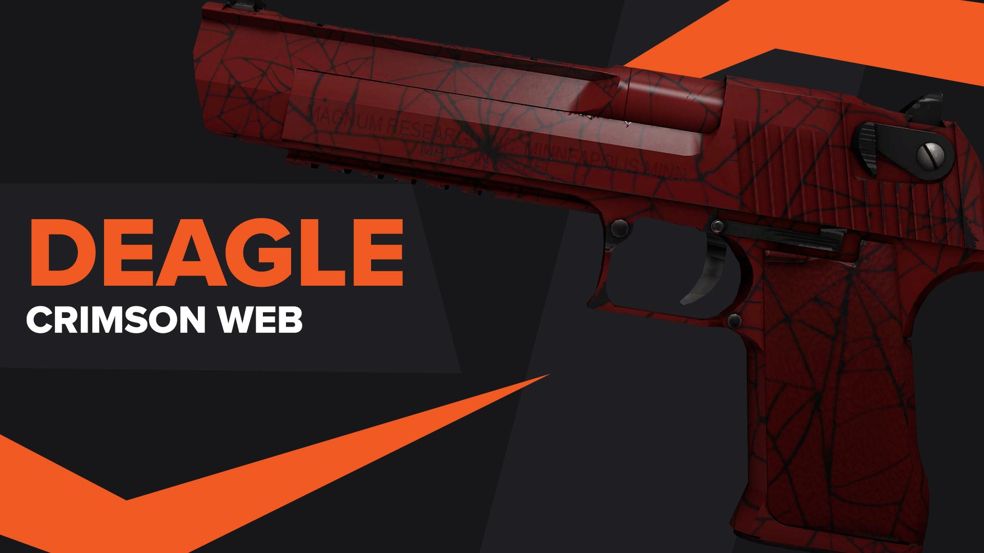 DESERT EAGLE Crimson Web CSGO Skin