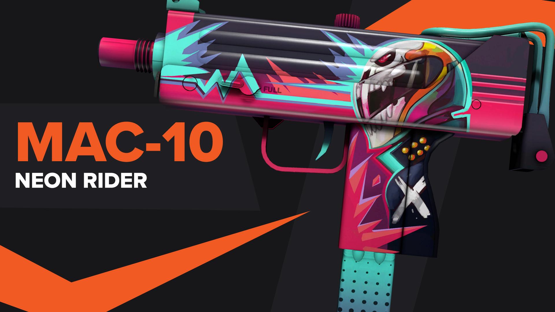 MAC 10 Neon Rider CSGO Skin