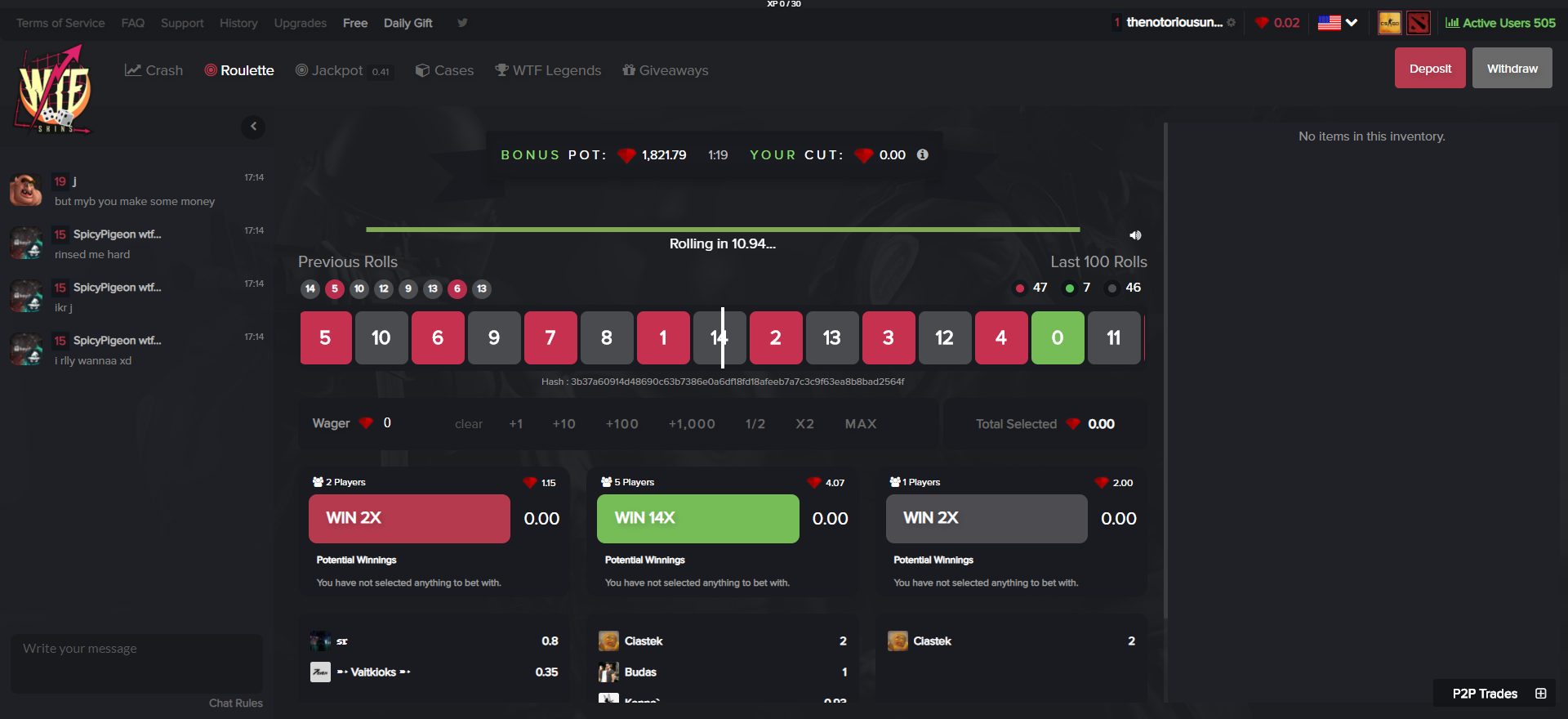 CSGO Gambling Sites WTFSkins