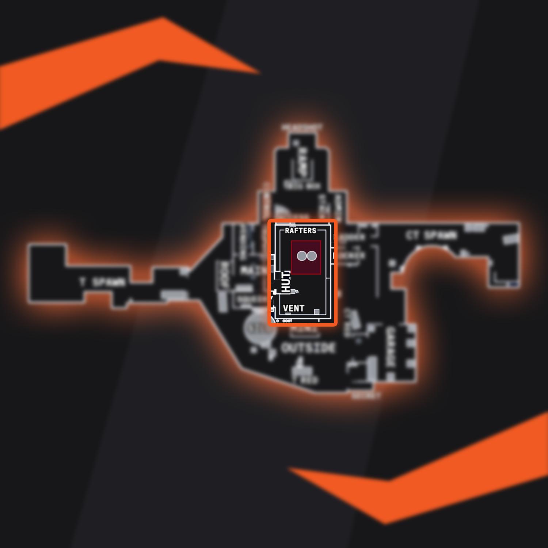 CSGO Nuke Bombsite A
