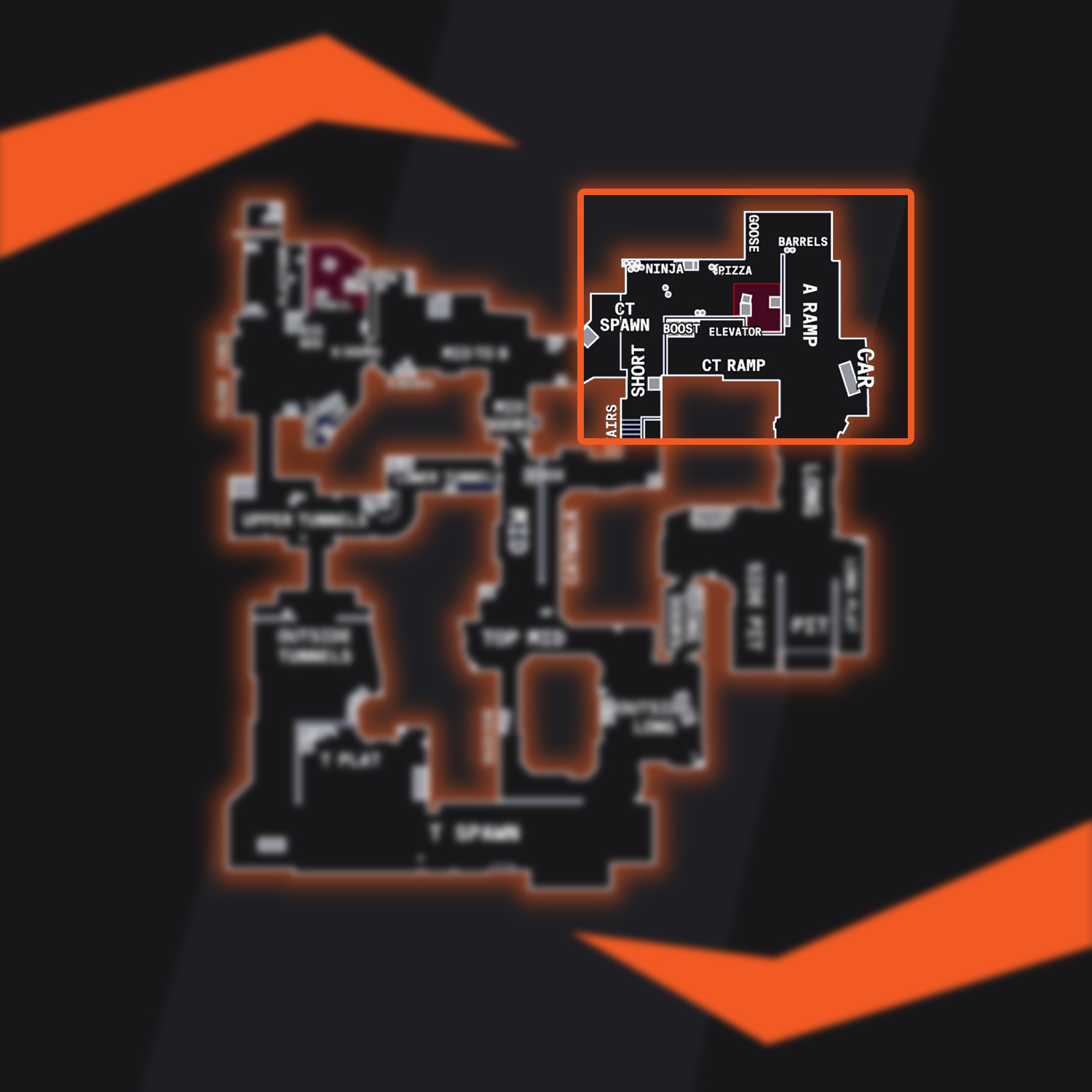 Dust 2 Map Overview Bombsite A