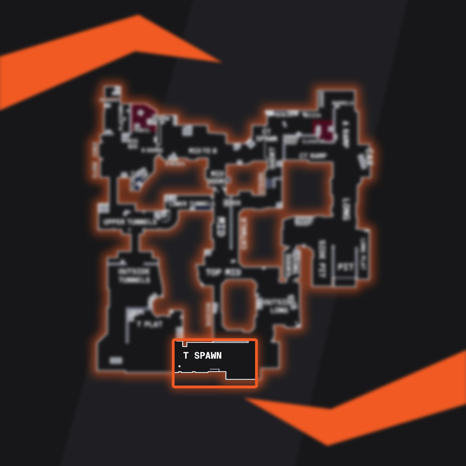 Dust 2 Map Overview T Spawn