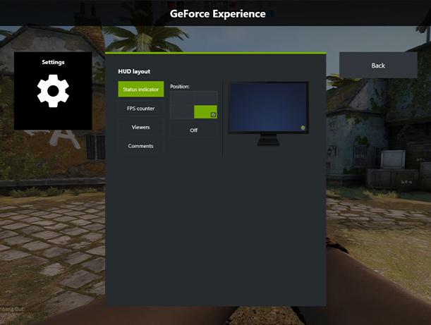 FPS display CSGO Geforce Experience