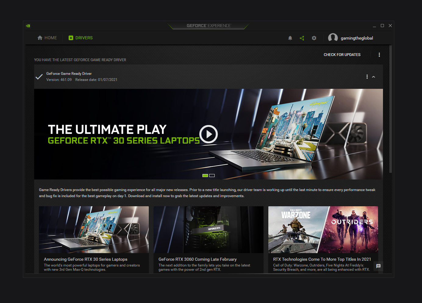 Geforce Experience Driver CSGO FPS
