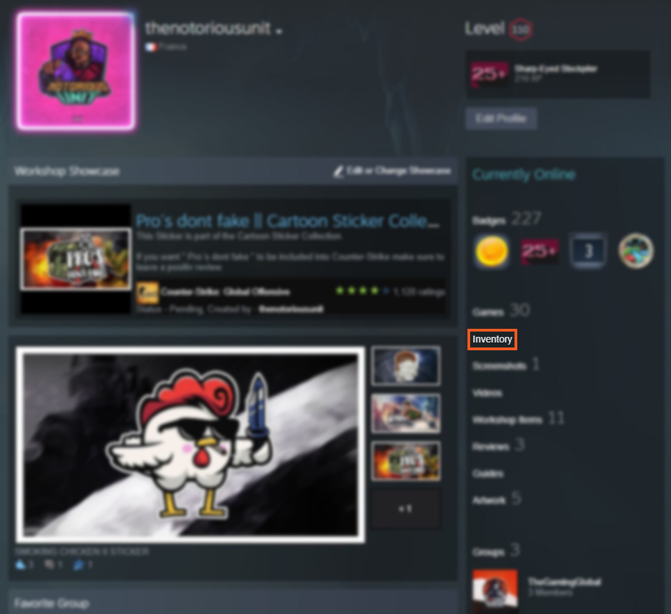how to find CS GO steam trade url