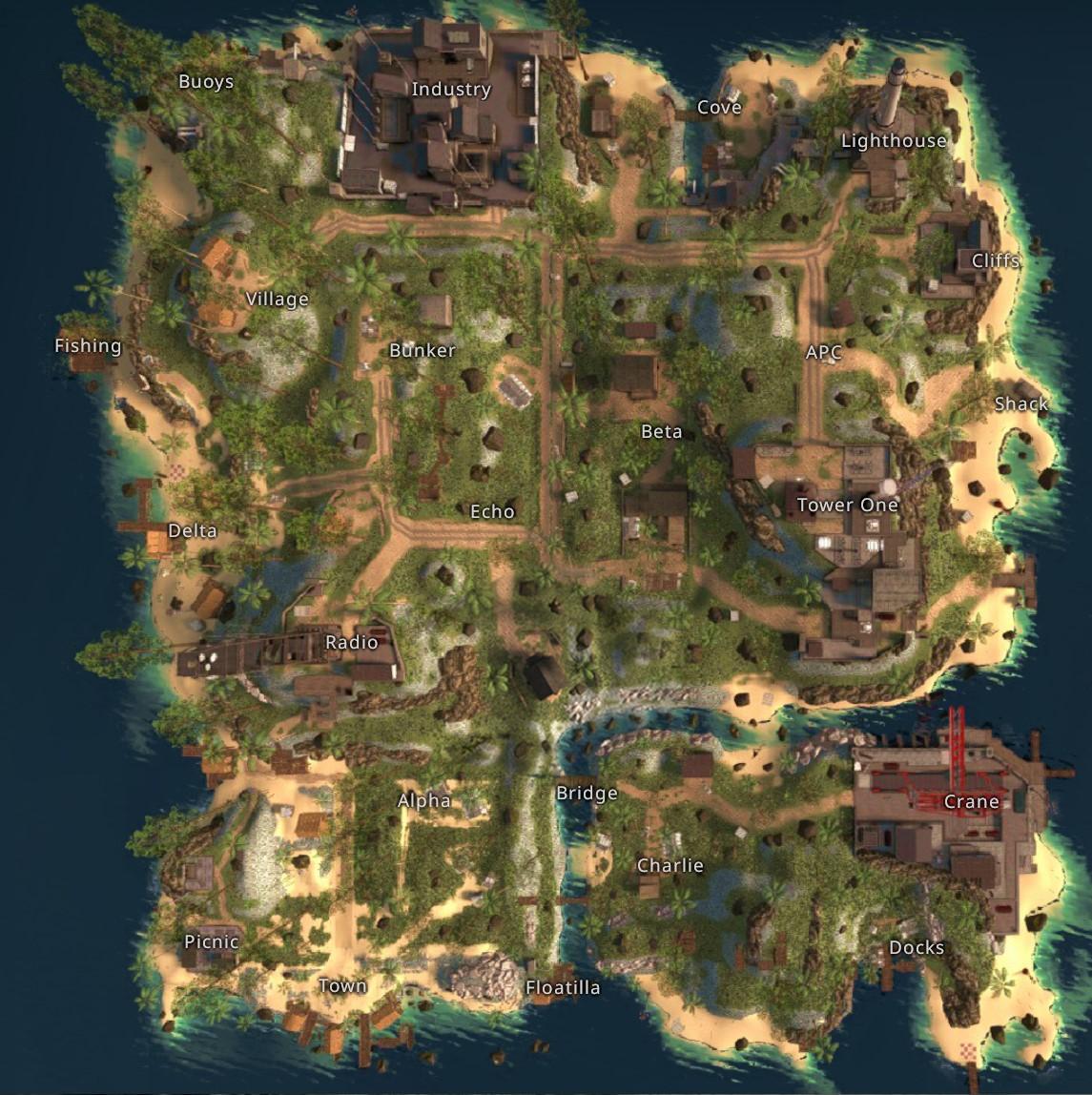 CS GO Danger Zone Jungle Map