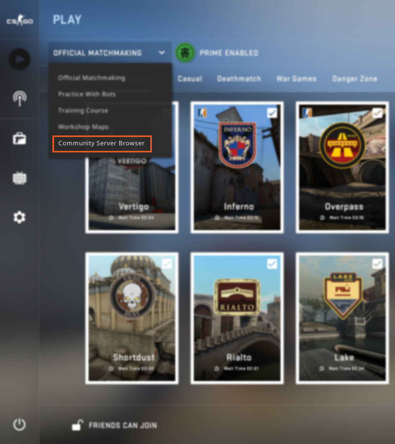 Community Browser CS GO How to