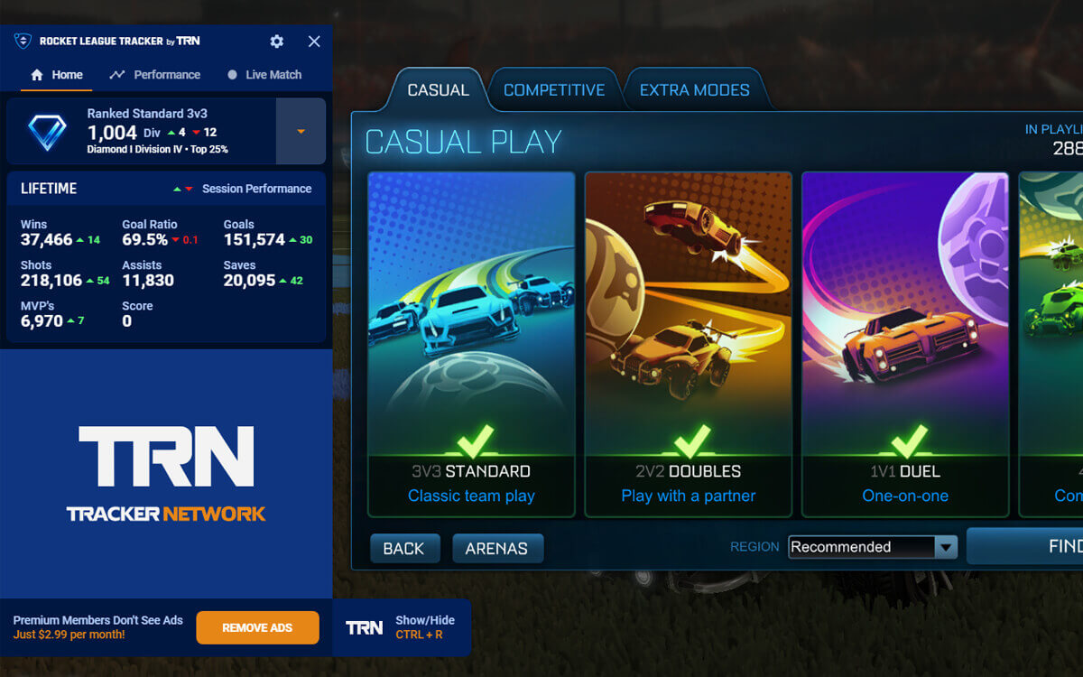 See MMR with Tracknetwork Rocket League