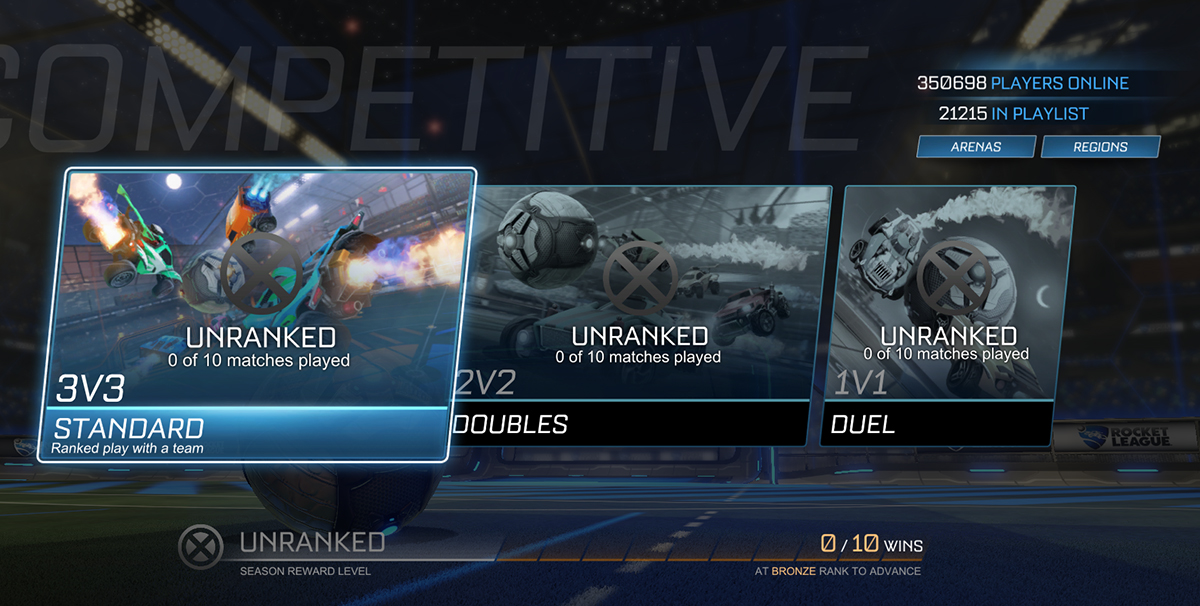 Rank reset Rocket League