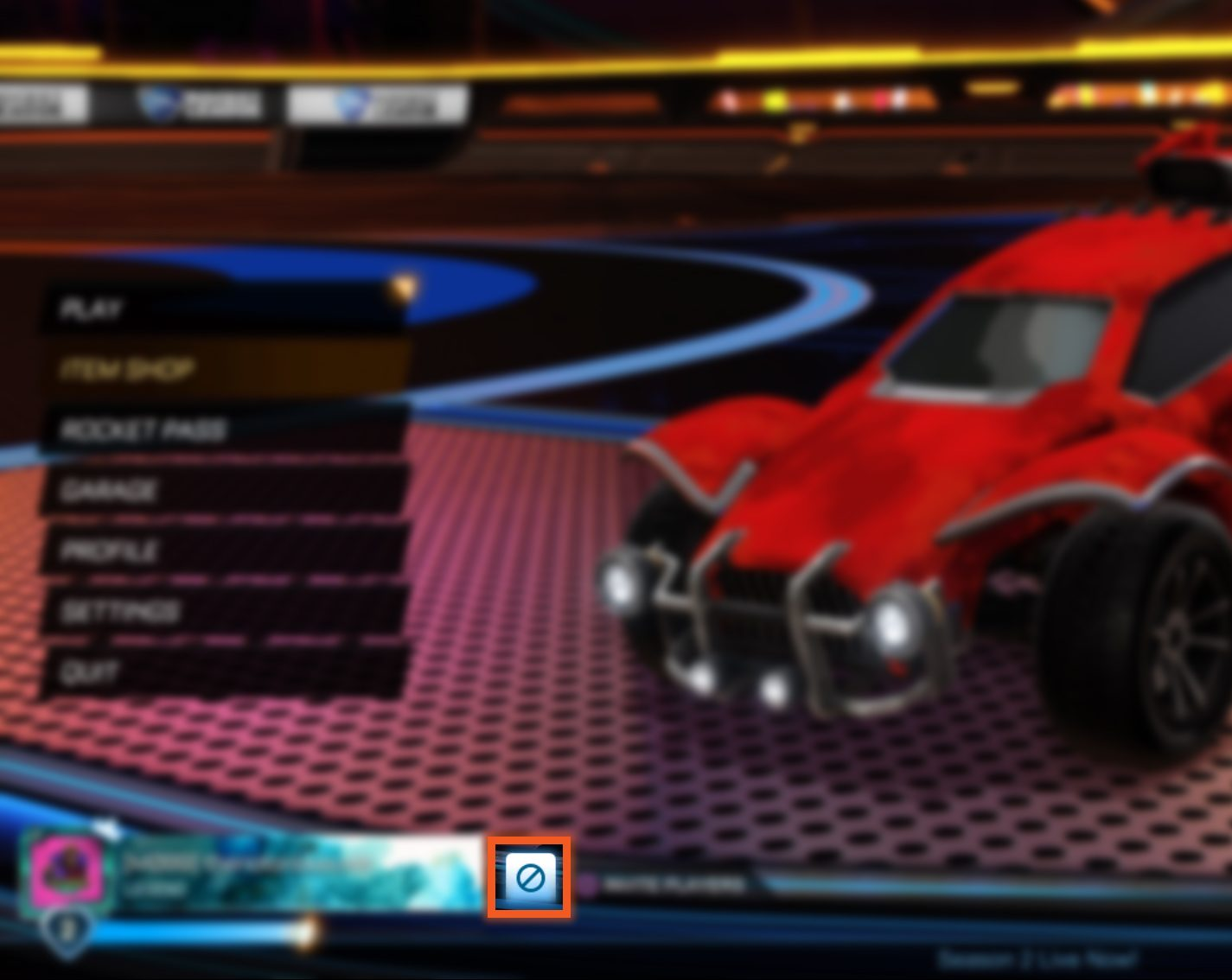Rocket league how to leave a party