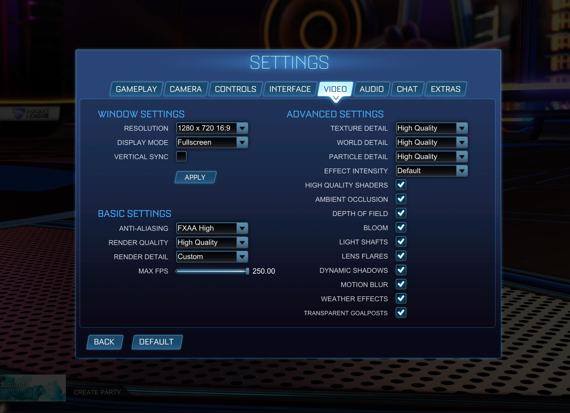 Lower Resolution Rocket League