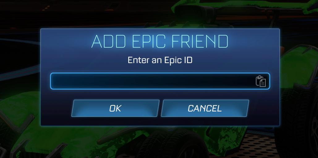 Epic ID Rocket League