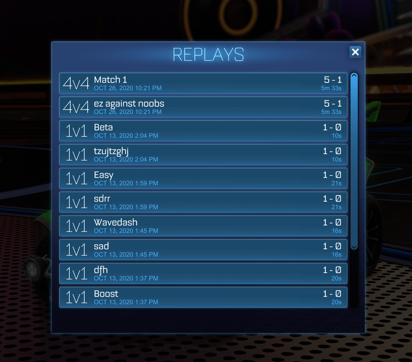 Rocket League how to find replays