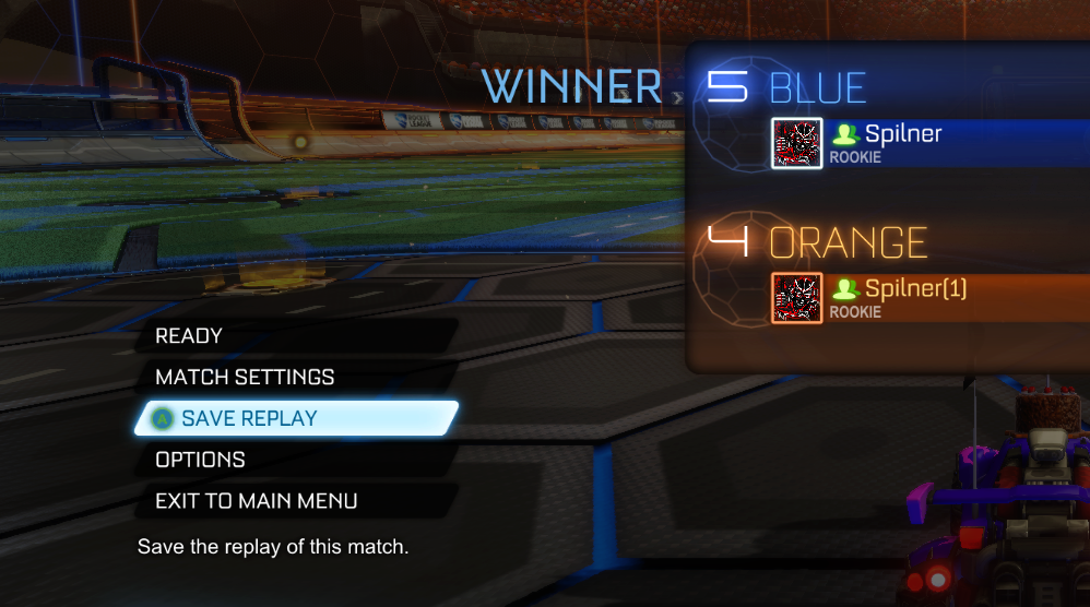 Rocket League How to save Replay